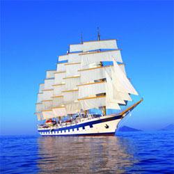 royal clipper, five-masted sailing ship