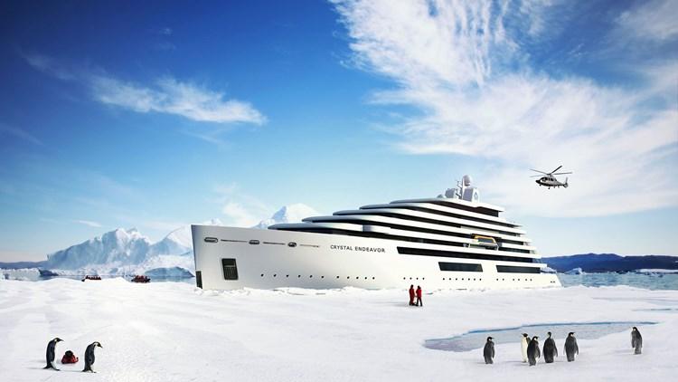 Crystal Endeavor luxury polar mega-yacht