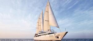 Le Ponant three-masted sailing ship
