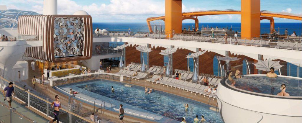 Celebrity Edge Resort Deck and Pool