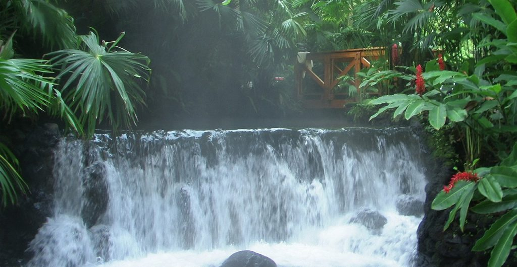 Waterfall in Costa Rica Rainforest