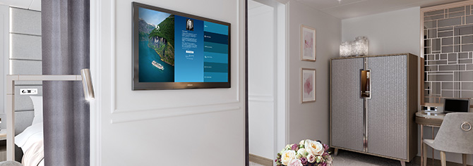 Crystal Serenity and Crystal Symphony Interactive TV in Suites