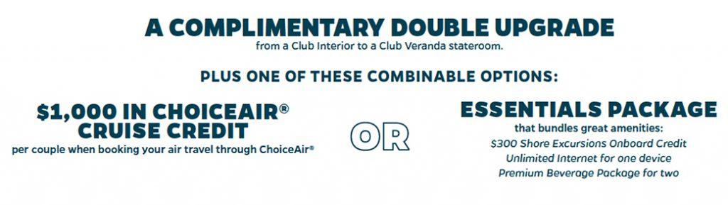 Azamara Club Cruises ChoiceAir Credit or Onboard Amenity offers