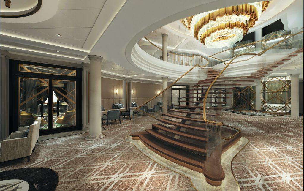 Regent Seven Seas Splendor grand staircase
