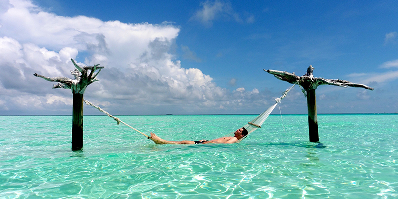 Hammock time in the Maldives