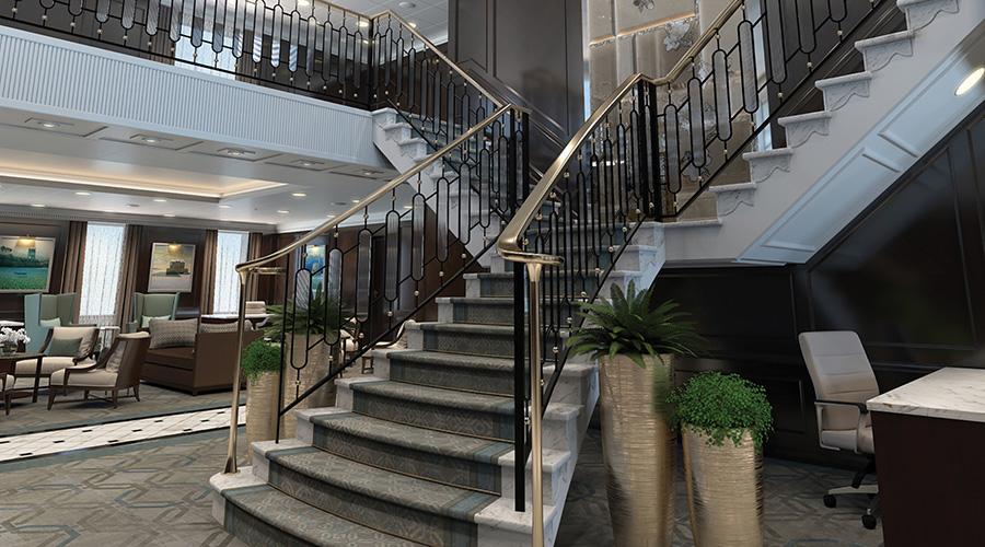 Oceania Cruises Regatta-class Grand Stairway