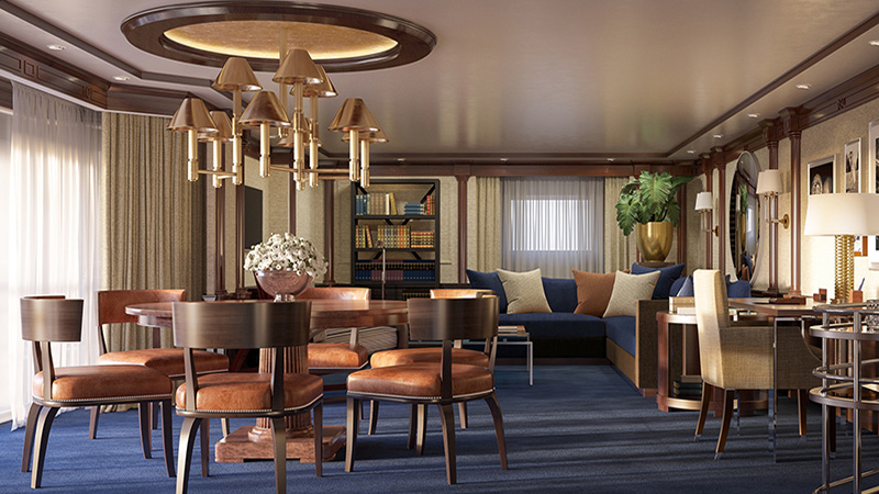 Oceania Marina & Riviera Owners Suite - Living Room