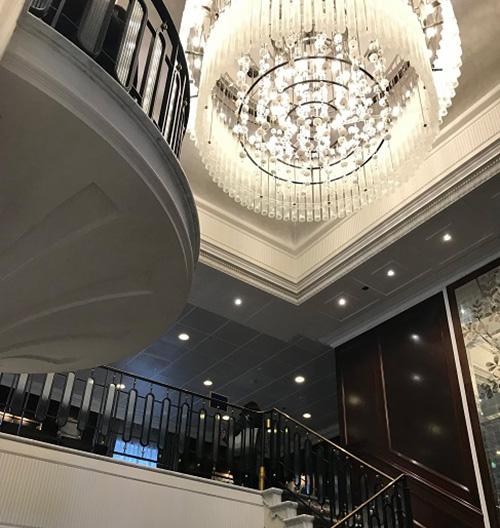 Oceania Insignia Grand Staircase chandolier
