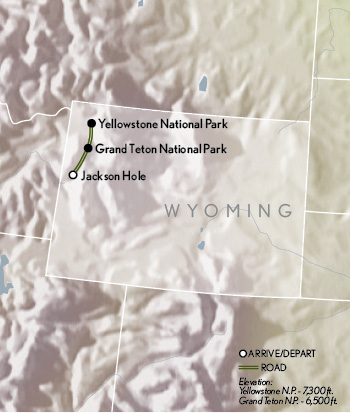 Abercrombie & Kent Tailor Made Wyoming map