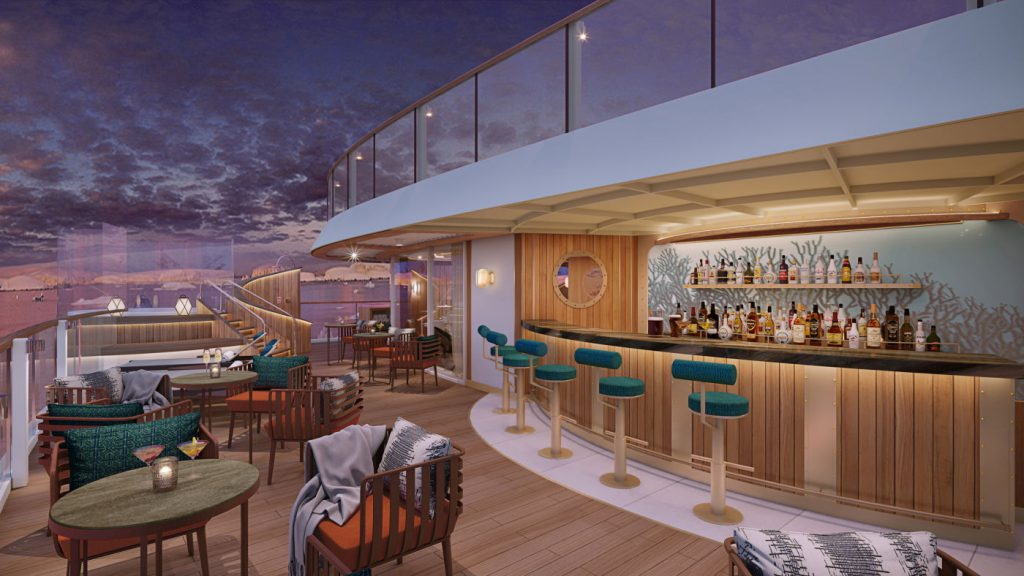 Sky Bar on Seabourn Venture expedition ship