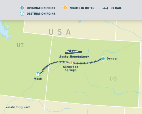Rockies to the Red Rocks Classic, Rocky Mountaineer, Vacations by Rail